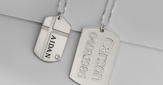 Dog Tag Necklaces - Banner
