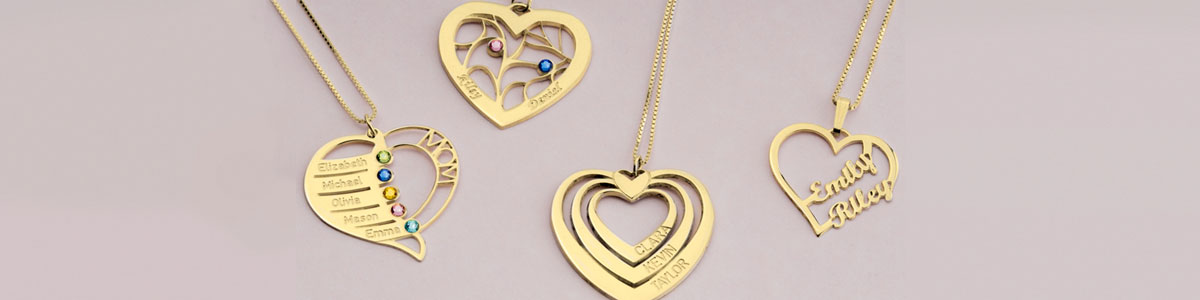 Heart Necklaces - Banner