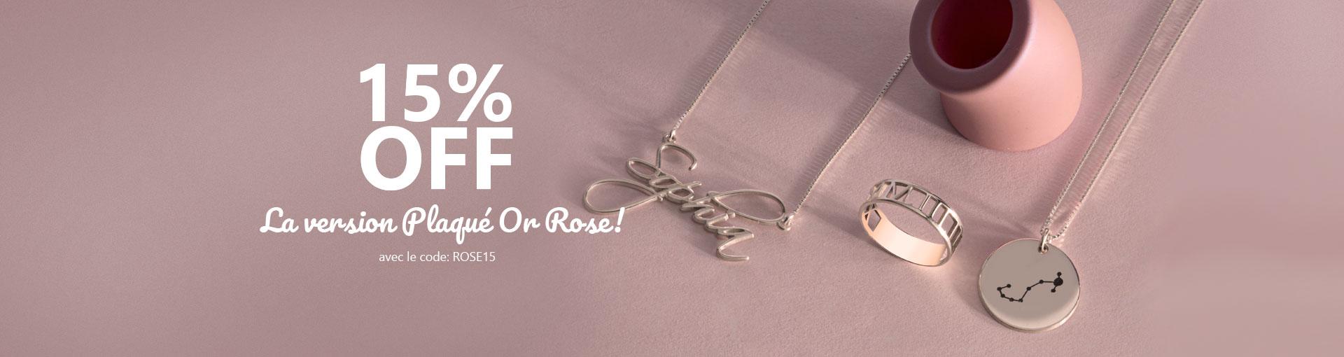 Vente Plaqué Or Rose - Banner