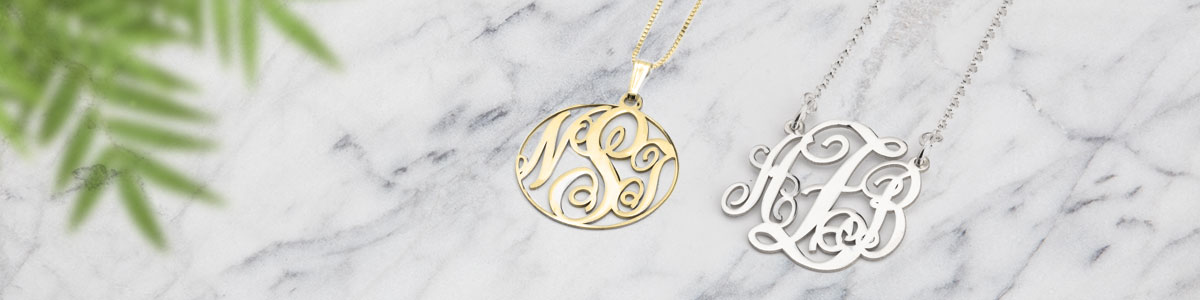 Monogram Necklaces - Banner