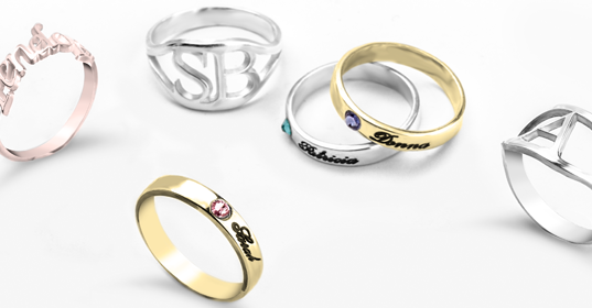 Personalised Rings - Banner