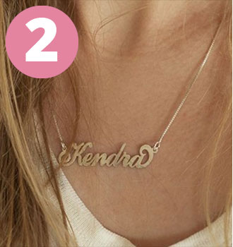 Bestsellers - Carrie Name Necklace
