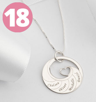 Bestsellers - Mother's Heart Necklace With Engraved Names