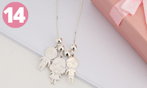 Bestsellers - Mother's Necklace with Boy & Girls Charms