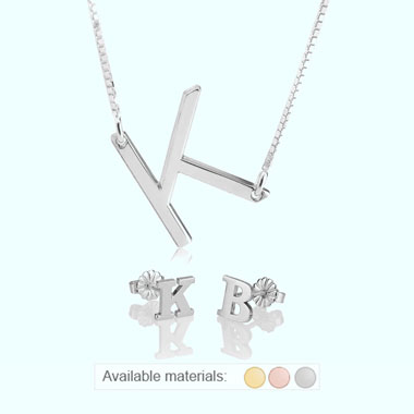 Personalised Initial Jewellery Set