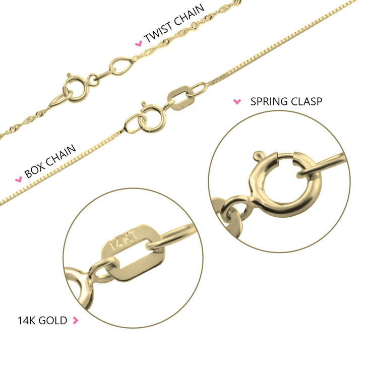 Gold Box And Twist Chain