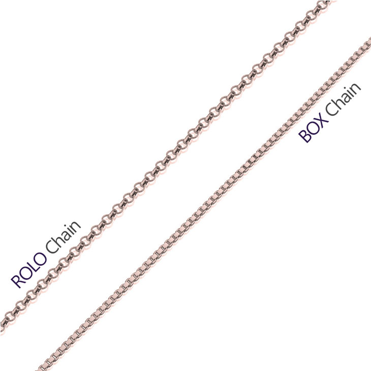 Rose Gold Box And Rolo Chain