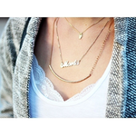 Collier Prénom en Argent -                          	How it looks in reality - Thumbnail - 17