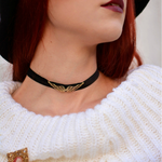 Wing Choker Necklace -                          How it looks in reality - Thumbnail - 2