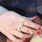 Two Finger Name Ring  -                          	How it looks in reality - Thumbnail - 5
