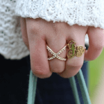 Interlocking Monogram Ring -                          	How it looks in reality - Thumbnail - 5