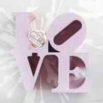 Cut Out Block Monogram Ring -                          	How it looks in reality - Thumbnail - 0