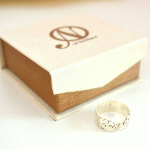Cursive Name Ring -                          	How it looks in reality - Thumbnail - 3