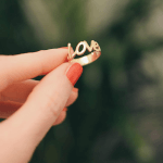 Love Ring in Cursive -                          	How it looks in reality - Thumbnail - 0