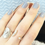 Cutout Initial Ring -                          How it looks in reality - Thumbnail - 3