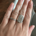 Cutout Initial Ring -                          	How it looks in reality - Thumbnail - 0
