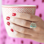 Cutout Initial Ring -                          How it looks in reality - Thumbnail - 1