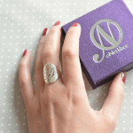 Cutout Initial Ring -                          How it looks in reality - Thumbnail - 4