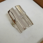 Capital Cut Out Monogram Ring -                          	How it looks in reality - Thumbnail - 2