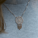 Dreamcatcher Necklace -                          	How it looks in reality - Thumbnail - 5