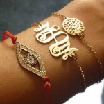 Round Monogram Bracelet -                          	How it looks in reality - Thumbnail - 1