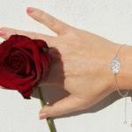 Dainty Monogram Bracelet -                          How it looks in reality - Thumbnail - 1