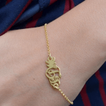 Classic Monogram Bracelet -                          	How it looks in reality - Thumbnail - 2