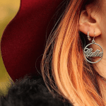 Name Hoop Earrings -                          	How it looks in reality - Thumbnail - 0