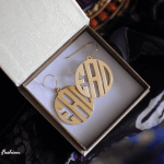Capital Letters Monogram Earrings -                          	How it looks in reality - Thumbnail - 1
