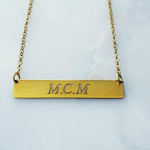 Personalized Bar Necklace -                          	How it looks in reality - Thumbnail - 7