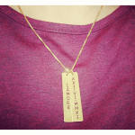 Vertical Bar Necklace -                          	How it looks in reality - Thumbnail - 3