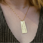 Vertical Bar Necklace -                          	How it looks in reality - Thumbnail - 6