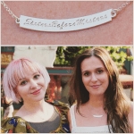 Curved Bar Necklace with Name -                          How it looks in reality - Thumbnail - 2