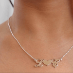 Heart initials necklace -                          	How it looks in reality - Thumbnail - 0