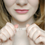 Roman Numeral Cut Out Necklace -                          	How it looks in reality - Thumbnail - 1