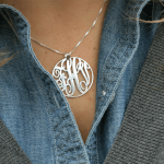 Circle Monogram Necklace -                          	How it looks in reality - Thumbnail - 6