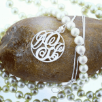 Circle Monogram Necklace -                          	How it looks in reality - Thumbnail - 3