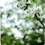 Circle Monogram Necklace -                          	How it looks in reality - Thumbnail - 4