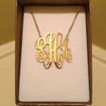 Split Chain Monogram Necklace -                          	How it looks in reality - Thumbnail - 3