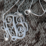 Split Chain Monogram Necklace -                          	How it looks in reality - Thumbnail - 1