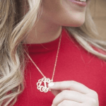 Monogram Initial Necklace -                          	How it looks in reality - Thumbnail - 4