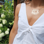 Monogram Initial Necklace -                          How it looks in reality - Thumbnail - 7
