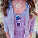 Monogram Initial Necklace -                          	How it looks in reality - Thumbnail - 1