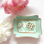 Monogram Initial Necklace -                          How it looks in reality - Thumbnail - 6
