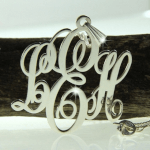 Classic Monogram Necklace  -                          	How it looks in reality - Thumbnail - 1