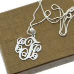Classic Monogram Necklace  -                          	How it looks in reality - Thumbnail - 2