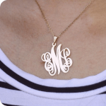 Classic Monogram Necklace  -                          	How it looks in reality - Thumbnail - 3