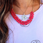 Classic Monogram Necklace  -                          	How it looks in reality - Thumbnail - 8
