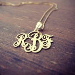 Classic Monogram Necklace  -                          	How it looks in reality - Thumbnail - 0