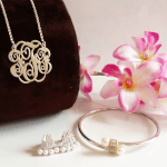 Twisted Split Chain Monogram Necklace -                          How it looks in reality - Thumbnail - 0